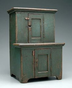 """Miniature step cupboard, probably late 19th/early 20th century, 21 1/2"""" x 15"""" x 12"""""""