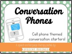 Incorporate your student interests to increase engagement! This cell phone themed packet is a fun way to target conversational skills including topic maintenance, making comments, asking questions, safety, and initiation. This 19-page packet contains the following:95 text message cards1 sorting visual8 blank cell phone cards8 screen shatter foil cards1 card deck coverEach comment or question looks like it is a text message from a specific person (mom, dad, friend, classmate, etc..).