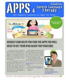 Apps for speech therapy
