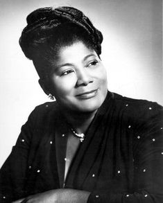 """Mahalia Jackson an American gospel singer, possessing a power contralto voice. She was referred to as """"The Queen of Gospel"""". She became one of the most influential singers in the world and was heralded internationally as a singer and civil rights activist. She recorded 30 albums during her career, and her 45 rpm records include a dozen """"golds""""-Million-Sellers. Birth Date-October 26, 1911 Death Date-January 27,1972 (age 60)"""