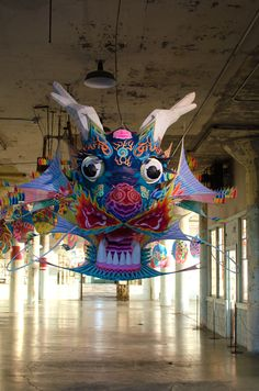 Ai Wei Wei Art Exhibition at Alcatraz - Paper Kite - With Wind