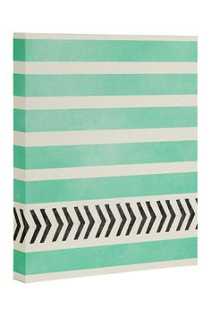 Mint Stripes and Arrows Canvas Wall Art on @nordstrom_rack                                                                                                                                                      More