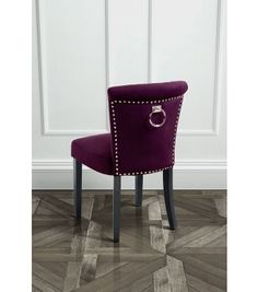 Positano Dining Chair with Back Ring - Mulberry