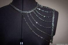 DIY Tutorial Body Armor/Body Chains. #fashion #diy #crafts #jewelry #body_chains #chains #body_armor