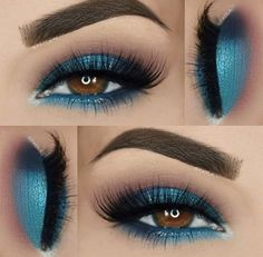 In order to enhance your eyes and also increase your appearance, finding the very best eye make-up tips and hints can really help. You'll want to be sure you wear make-up that makes you look even more beautiful than you are already. Beautiful Eye Makeup, Gorgeous Eyes, Love Makeup, Makeup Inspo, Makeup Inspiration, Makeup Ideas, Makeup For Blue Dress, Makeup Tutorials, 80s Makeup
