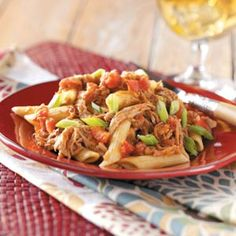 Barbecue Pork and Penne Skillet Recipe from Taste of Home -- shared by Judy Armstrong of Prairieville, Louisiana (penne pasta recipes ham) Bbq Pork, Pulled Pork, Barbecue Chicken, 30 Minute Meals, Quick Meals, Cooking Tips, Cooking Recipes, Pork Recipes, Pasta Recipes