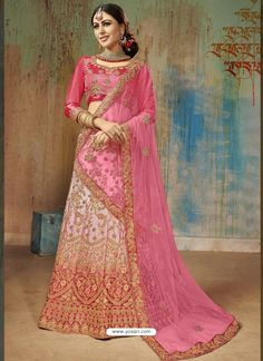 18df44262f5dd8 Light Pink Satin Silk Heavy Embroidered Designer Lehenga Choli