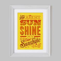 You are my Sunshine - Cross Stitch Pattern (Digital Format - PDF) on Etsy, $14.52
