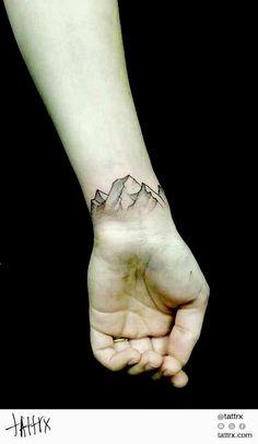 Mountain band tattoo wrist arm                                                                                                                                                                                 Más