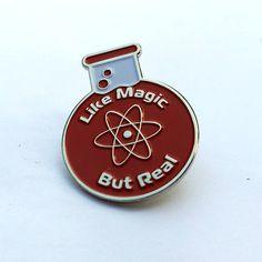 Science Like Magic But Real Enamel Pin aesthetic Enamel pin science Like magic but real lapel pin Just Kids, Wally West, Jacket Pins, Cool Pins, Pin And Patches, Silver Enamel, Pin Enamel, Hat Pins, Pin Badges