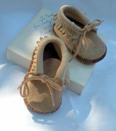 Boho Baby  Vintage Baby Children Moccasins  Cute by mygrandmaandme