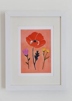 Poppy Art Print by lisaruppdesign on Etsy, $10.00
