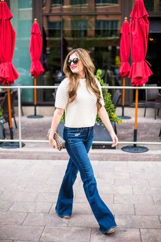 Short Sleeve Sweater and Flares
