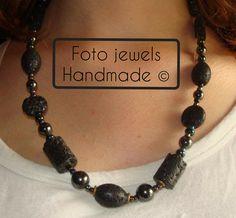 Κολιε με αυθεντικες λαβες!! Μηκος 40 cm  16€ Jewels, Handmade, Hand Made, Jewerly, Gemstones, Fine Jewelry, Gem, Jewelery, Handarbeit