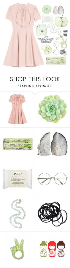 """""""she was crying, cursing at the gods"""" by coffee-stained-kisses ❤ liked on Polyvore featuring RED Valentino, Fuji, philosophy, Marie Hélène de Taillac, H&M, Cassia and scroll_position"""