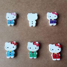 Crafts 50 x Plastic OVAL buttons 2.5cm Children plastic needles Kids Sew