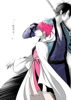 "Hak/Yona by pinoro on pixiv. || Text: ""Don't go--"""