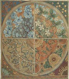 Seasonal Medallion tapestry