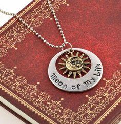Game of Thrones Khal / Khaleesi Pendant Necklace: Moon of My Life My Sun and Stars #gameofthrones #necklace #khal #khaleesi #discount
