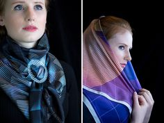 bilge nur saltik + rive roshan present scarf collection through the looking glass