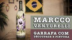 21/08/2014 - Garrafa com découpage e pintura (Marcco Venturelli)