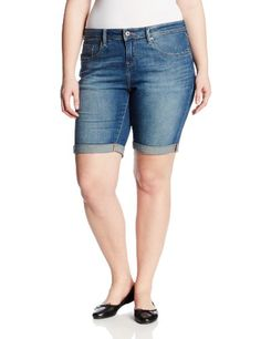 George Women s Plus Size Career Classic Sateen Bermuda Shorts with