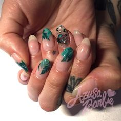 Banana Leaf Nails by azusa from Nail Art Gallery