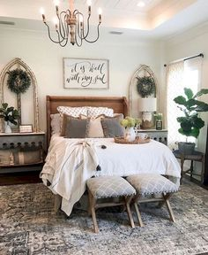 27 Beautiful Modern Farmhouse Bedroom Design Ideas And Decor. If you are looking for Modern Farmhouse Bedroom Design Ideas And Decor, You come to the right place. Below are the Modern Farmhouse Bedro. Farmhouse Bedroom Furniture, Modern Farmhouse Bedroom, Bedroom Furniture Design, Master Bedroom Design, Home Decor Bedroom, Farmhouse Style, Bedroom Décor, Bedroom Designs, Farmhouse Decor