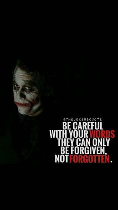 Hassanツ😍😘 careful with your words Devil Quotes, Wisdom Quotes, Words Quotes, Life Quotes, Funny Quotes, Dark Quotes, Joker Qoutes, Best Joker Quotes, Badass Quotes