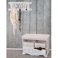 Garderobe mit Kommode als Sitzbank mit 2 Körben