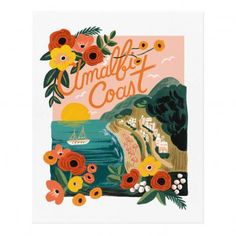 Rifle Paper Co Rifle Paper Amalfi Cost Poster - 28x35 cm `One Artist : Anna Bond * To stand * Fabrics : Recycled Paper * 28 x 35 cm. * Details : Printed on paper from durably managed forests (FSC) * Made in : USA http://www.MightGet.com/january-2017-13/rifle-paper-co-rifle-paper-amalfi-cost-poster--28x35-cm-one.asp