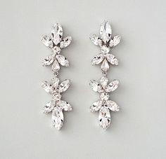 Teardrop Chandelier Swarovski Crystal Earrings - Tastefully ...