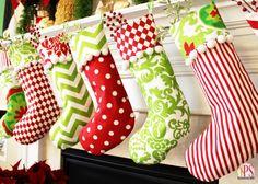20 DIY Christmas Stocking Ideas to Brighten Your Mantel | thegoodstuff