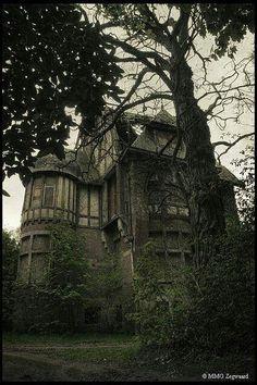 abandoned beauty by sharene Abandoned Buildings, Abandoned Property, Old Abandoned Houses, Abandoned Castles, Old Buildings, Abandoned Places, Old Houses, Abandoned Belgium, Spooky Places