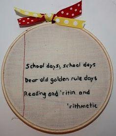 Teacher Appreciation: Embroidery Notes