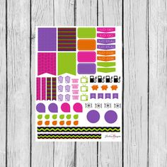 Halloween Monthly Assorted Planner Sticker Set: Erin Condren, Filofax, Kikki K, Plum Paper Planner