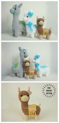This is a free Amigurumi alpaca crochet pattern in PDF format with step by step video tutorial. Crochet Amigurumi Free Patterns, Crochet Animal Patterns, Crochet Dolls, Crochet Animals, Cute Crochet, Crochet Crafts, Yarn Crafts, Yarn Projects, Knitting Projects