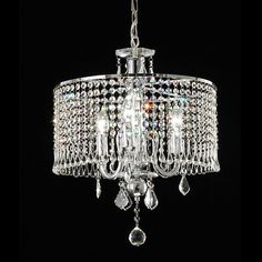 Warehouse of Tiffany RL8310/3 Crystal Beaded Chandelier - ATG Stores