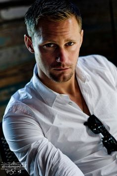 Alexander Skarsgard (I don't watch True Blood...I think the whole vampire thing is ...well...silly. But this man could almost make me start watching!)