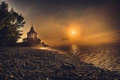 Po východe slnka na Liptovskej Mare. Pos