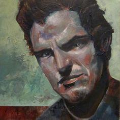 Acrylic on canvas, portrait - Title: DUDE 60 x 60 centimeters
