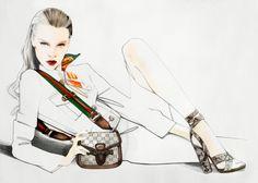 Illustration.Files: Gucci S/S 2015 Fashion Illustration by Nuno Da Costa