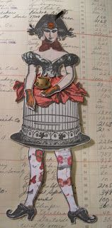 Artwork by Sara Hanlon, working with Character Constructions art stamps.