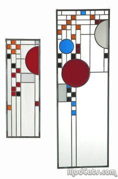 Frank Lloyd Wright style Glass Panels
