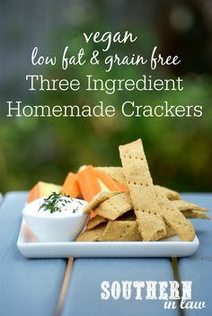 This Three Ingredient Homemade Crackers Recipe could not be simpler and takes…