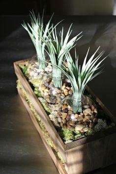 DIY clear ornament planter box