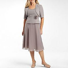 024a751772b Taylor Beaded Jacket Dress with Chiffon Skirt - jcpenney ----- Mother of  the bride dress