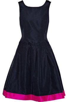 Oscar de la Renta  Folded silk-taffeta dress