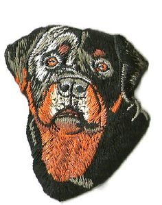 Dog - Rottweiler - Rottie - Pet - Front View - Embroidered Iron On Patch