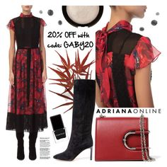 """""""ADRIANA ONLINE: Maxi Dress"""" by gaby-mil ❤ liked on Polyvore featuring Coach 1941, Nina Ricci and Context"""